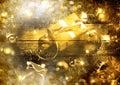 Gold Christmas Scene