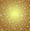 Gold christmas snowflakes background snowflake snow festive vector Royalty Free Stock Images
