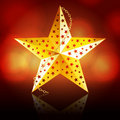 Gold Christmas star Stock Photos
