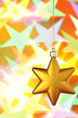 Gold Christmas star Royalty Free Stock Photography