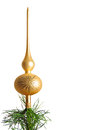 Gold christmas tree top Royalty Free Stock Photography