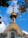 Gold Church Dome Royalty Free Stock Photos