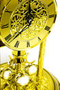 Gold Clock Stock Image