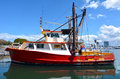 Gold coast fishermen s co queensland australia aus oct fishing trawlers mooring at operative since the selling their Royalty Free Stock Photos