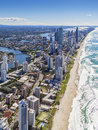 Gold coast queensland australia aerial view of Royalty Free Stock Images