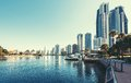 Gold coast queensland australia city the city is well known as luxury resort in Royalty Free Stock Photography