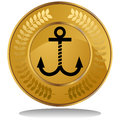 Gold Coin - Anchor Stock Image