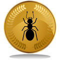 Gold Coin - Ant Royalty Free Stock Photo