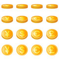 Gold coin, four monetary unit vector Royalty Free Stock Photo