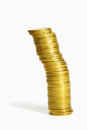 Gold coin heap Stock Photography