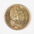 Gold coin louis xviii old french currency Royalty Free Stock Images