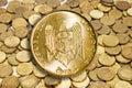 Gold coin modern Royalty Free Stock Photos