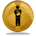 Gold Coin - New Father Royalty Free Stock Photo