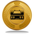 Gold Coin - Stadium Royalty Free Stock Photo