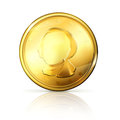 Gold coin on white Stock Photography