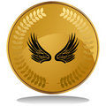 Gold Coin - Wings Stock Photo