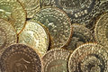 Gold coins close up of background Stock Photography