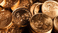 Gold coins a collection of as financial growth Stock Images