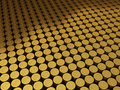 Gold coins euro sign Royalty Free Stock Photo