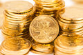 Gold coins heap of Royalty Free Stock Images