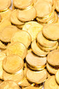 Gold coins heap of Royalty Free Stock Photo
