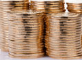 Gold coins many loose change Stock Photography