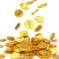 Gold coins point a lot of coin Stock Images
