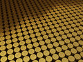 Gold coins rupee signs d render stacking depth of field Stock Images