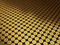 Gold coins Turkish lira signs Stock Image