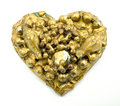 Gold collage heart Stock Photo