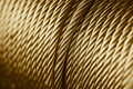 Gold color rope sling drum. Royalty Free Stock Photo