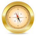 Gold compass Royalty Free Stock Photos