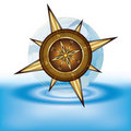 Gold compass Royalty Free Stock Image