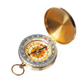 Gold compass isolated Royalty Free Stock Photo