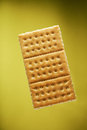 Gold cracker cookie Royalty Free Stock Photo