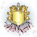Gold crest element Royalty Free Stock Photos