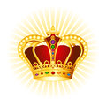 Gold crown concept golden clipart on glowing background Stock Photos