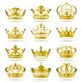 Oro corona icono