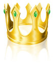 Gold crown illustration Royalty Free Stock Image