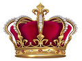 Gold crown with jewels Stock Photos