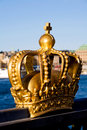 Gold crown in Stockholm Royalty Free Stock Images
