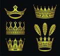 Gold crowns Stock Image