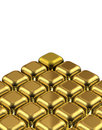Gold cube different one Stock Photography
