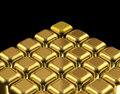 Gold cubes Royalty Free Stock Photos