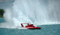 Gold Cup hydroplane race Detroit River Royalty Free Stock Images