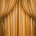 Gold curtain Royalty Free Stock Photos