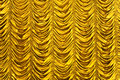 Gold curtain texture Stock Photo