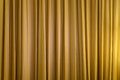 Gold curtain Royalty Free Stock Photo