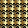 Gold 3d paisley seamless pattern. Abstract vector background wallpaper with 3d golden paisley flowers. Surface texture. Modern or