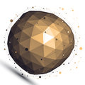 Gold 3D Vector Abstract Design...